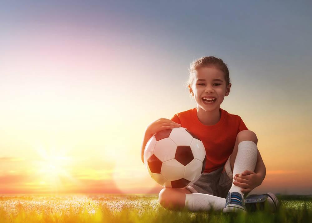 Mi hija juega al fútbol